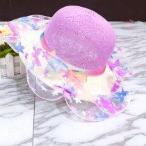 Hat รหัสเฉลี่ย Headgear อื่น ๆ / อื่น ๆ หญิง Beige violet pink sky blue rose red เด็ก ชายคาบ้านขนาดใหญ่ สันทนาการ ผ้าฝ้ายผสม