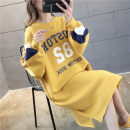 Sweater / sweater Winter of 2019 M L XL Long sleeves Medium length Socket singleton  Plush Crew neck easy commute routine letter 18-24 years old 96% and above Monalia Korean version polyester fiber polyester fiber Intradermal bile duct Polyester 100% Pure e-commerce (online only)
