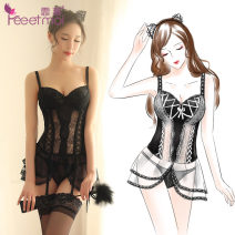 Fun suit Other / other Spandex, polyester Black Padded vest, white padded vest, Black Padded Vest + black feather whip, white padded Vest + white feather stick, Black Padded Vest + ear, white padded Vest + ear New bra vest suit Corset Maid's clothing Woven cloth