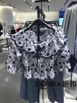 shirt Summer 2021 other 96% and above Long sleeves Short style (40cm < length ≤ 50cm) One word collar Self cultivation Data Zara XS,S,M,L white