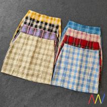 skirt Spring 2021 XS,S,M,L,XL Black square,green,blue,yellow,pink,black,Purple,dark red,dark blue pweojkds001 Other / other