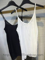 Vest sling Summer of 2018 BLACK * 80 length, white * single penetration 80 length, black * 90cm longer, white * single penetration 90cm longer S. M, l, XL, 80 length with dress, 90 length with skirt singleton  Medium length easy Versatile camisole Solid color 91% (inclusive) - 95% (inclusive) cotton