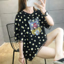 Women's large Summer 2020 Black and white M L XL 2XL T-shirt Fake two pieces commute easy Socket Short sleeve Plants and flowers Korean version Crew neck Medium length routine junj1573 Love of butterfly 18-24 years old 31% (inclusive) - 50% (inclusive) Medium length Pure e-commerce (online only)