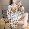T-shirt M L XL 2XL Summer 2020 elbow sleeve Crew neck easy Medium length routine commute polyester fiber 51% (inclusive) - 70% (inclusive) 18-24 years old Korean version originality letter Love of butterfly printing Polyester 65% Cotton 30% polyurethane elastic fiber (spandex) 5%