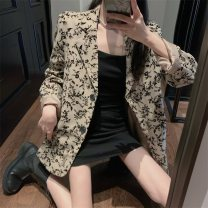 suit Autumn 2020 Jacket and skirt S M Long sleeves routine easy tailored collar commute routine ZOGU18931 18-24 years old 96% and above other Hua Xian Other 100% Exclusive payment of tmall