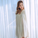 Pajama Top female Other / other 155(S),160(M),165(L),170(XL) white Long sleeves sexy autumn routine Small lapel cotton More than 95%