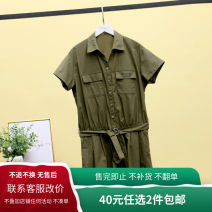 Casual pants Olive green (with belt), olive green (without belt) XS,S,M,L,XL Spring 2020 shorts Jumpsuit street routine 25-29 years old 96% and above Other / other pocket cotton