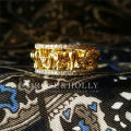 Ring / ring Mixed materials 101-200 yuan ROSE&HOLLY Size 6, size 8, size 7, activity time 623-625, size 5# brand new goods in stock Retro / court female Online gathering features Gold Plated inlaid artificial gem / semi gem Bear / pig / animal