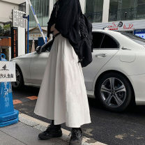 skirt Winter 2020 S M L XL White black longuette commute High waist A-line skirt Solid color 18-24 years old KTF3712560 More than 95% Kotaff cotton Korean version Cotton 100% Exclusive payment of tmall