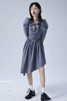 Dress Summer 2021 The first batch of grey pre-sale, Grey Spot S. M, average size