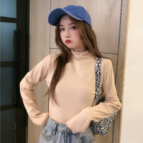Wool knitwear Winter 2020 M L XL White black yellow brown pink light grey light Khaki dark grey Dark Khaki apricot Long sleeves singleton  Socket cotton 91% (including) - 95% (excluding) Regular thickening commute Self cultivation High collar routine Solid color Socket DSX2137.。 18-24 years old