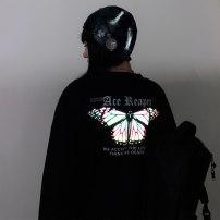 Sweater / sweater Autumn 2020 black M L XL XXL Long sleeves routine Socket singleton  routine Crew neck easy commute routine letter 91% (inclusive) - 95% (inclusive) Han Xuan Korean version cotton YJ-Y174 printing Cotton liner Cotton 93.1% polyurethane elastic fiber (spandex) 6.9%