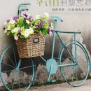 Wall decoration Small bike - sky blue, bike combination A5, bike - gold, oversize bike - blue, oversize bike - white Retro nostalgia iron Iron art Other Color bicycle