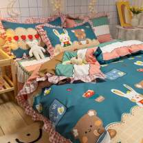 Bedding Set / four piece set / multi piece set Polyester (polyester fiber) Embroidery, quilting Others See details Other / other Others 4 pieces See details Bed sheet, bed skirt Princess style