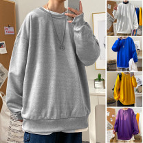 Sweater Youth fashion Su Yao White gray yellow green blue purple black M L XL 2XL 3XL 4XL 5XL Solid color Socket routine Crew neck autumn easy leisure time teenagers tide routine SY2996 Polyester 100% Autumn 2020 Pure e-commerce (online only)