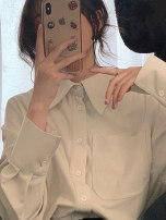 shirt Off white S M L XL Autumn 2020 other 96% and above Long sleeves commute Regular Polo collar Single row multi button routine Solid color 18-24 years old Straight cylinder Dorothy Korean version Button Other 100% Pure e-commerce (online only)