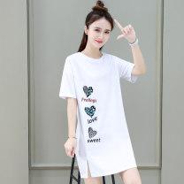 T-shirt White black red Khaki M L XL Summer 2021 Short sleeve Crew neck easy Medium length routine commute cotton 86% (inclusive) -95% (inclusive) 25-29 years old Korean version originality letter Tamanyan tmy-yms-16655 Print stitching Cotton 93.4% polyurethane elastic fiber (spandex) 6.6%