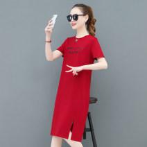 T-shirt M L XL 2XL 3XL Summer 2021 Short sleeve Crew neck easy Medium length routine commute Viscose 86% (inclusive) -95% (inclusive) 25-29 years old Korean version originality letter Tamanyan Print stitching Viscose fiber (viscose fiber) 94.6% polyurethane elastic fiber (spandex) 5.4%