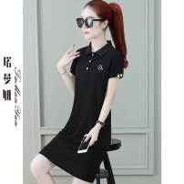 T-shirt Big red and black M L XL 2XL 3XL Summer 2021 Short sleeve Polo collar easy Medium length routine commute Viscose 51% (inclusive) - 70% (inclusive) 25-29 years old Korean version youth Solid color Tamanyan tmy-tyts-5262-1 Splicing Pure e-commerce (online only)