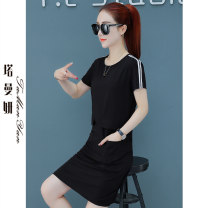 T-shirt Red and black M L XL 2XL Summer 2021 Short sleeve Crew neck easy Medium length routine commute cotton 86% (inclusive) -95% (inclusive) 25-29 years old Korean version youth Solid color Tamanyan tmy-bbyc-268-1 Pocket stitching Cotton 95% polyurethane elastic fiber (spandex) 5%