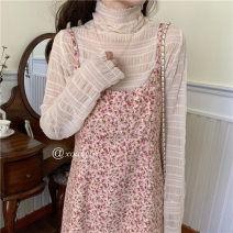 Dress Winter 2020 Ground coffee, ground pollen, ground flower and lace Average size Mid length dress Two piece set Sleeveless commute One word collar Loose waist Broken flowers Socket Ruffle Skirt routine Others 18-24 years old Type H Xousvin / Xiaoying Korean version 12RL875702 More than 95% other