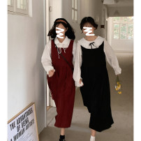 Dress Spring 2021 Black dress, red dress, apricot floral shirt, blue floral shirt S,M,L Mid length dress singleton  Sleeveless Sweet other High waist Solid color other routine Others 18-24 years old Type A Cyan.rose/green rose L3573-C5656 51% (inclusive) - 70% (inclusive) other cotton college