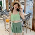 Split swimsuit Imperial concubine Skirt split swimsuit With chest pad without steel support Polyester, others female