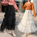 skirt Spring 2021 Average size Black apricot lotus root Pink Mid length dress commute High waist Irregular Solid color Type A 18-24 years old 91% (inclusive) - 95% (inclusive) Enon AI polyester fiber Korean version Other polyester 95% 5%