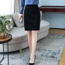 skirt Spring 2021 S M L XL XXL 3XL 4XL black Short skirt commute High waist A-line skirt Solid color 25-29 years old LWZ-5908A 91% (inclusive) - 95% (inclusive) Moyi polyester fiber zipper Korean version Polyester 93% polyurethane elastic fiber (spandex) 7% Pure e-commerce (online only)