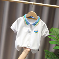T-shirt White, dark blue, Navy, yellow, white feathers Other / other 90cm,100cm,110cm,120cm neutral summer Short sleeve Lapel and pointed collar Korean version No model nothing cotton Cartoon animation Other 100% Class B Sweat absorption