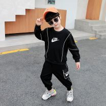 suit 2 pieces Condom children Expression of love 0119224247345 18 months, 2 years old, 3 years old, 4 years old, 5 years old, 6 years old, 7 years old, 8 years old Trend Nike spring and autumn currency cotton Long sleeve + pants routine There are models in the real shooting nothing motion Class B