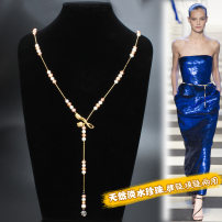 Belt / belt / chain other colour female Waist chain grace Single loop Youth, middle age, old age a hook Flower design Glossy surface 0.6cm copper Naked, diamond, beaded Imperial concubine FM-9-263 88cm,100cm
