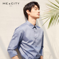 shirt Fashion City Me&City 165/88A 170/92A 175/96A 180/100A 185/104B 190/108B Night shadow blue night black blue traditional blue Thin money Button collar Long sleeves Self cultivation go to work summer youth Cotton 100% Business Formal  Solid color Summer of 2019