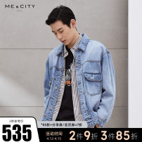 Jacket Me&City Fashion City Blue group black group Blue Group presale 1 black group presale 1 165/88A 170/92A 175/96A 180/100A 185/104B routine easy Other leisure Four seasons Cotton 100% Long sleeves Wear out Lapel youth routine Single breasted Round hem Closing sleeve Solid color Spring 2021 cotton