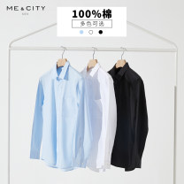 shirt Youth fashion Me&City 165/88A 170/92A 175/96A 180/100A 185/104B routine square neck Long sleeves standard Other leisure spring youth Cotton 100% Basic public Summer 2021 cotton Same model in shopping mall (sold online and offline) More than 95%