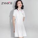 Sports dress Z0X0047DB female Free breath White, black, pink M (adult), l (adult), XL (adult), 2XL Summer 2020 Short sleeve Socket Lapel cotton Sports & Leisure Sports life