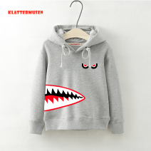 Sweater / sweater Klattermusen neutral 100cm 110cm 120cm 130cm 140cm 150cm spring and autumn No detachable cap leisure time Socket thickening There are models in the real shooting cotton Cartoon animation Cotton 70% polyester 30% Class B Cotton liner Autumn of 2018