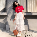 Fashion suit Summer of 2019 S M L XL White skirt + red T-shirt 18-25 years old Poetry remembers imperial concubine S18CW4559 Other 100% Pure e-commerce (online only)