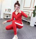 Casual suit Spring 2020 White, red, black S,M,L,XL,XXL 81% (inclusive) - 90% (inclusive) polyester fiber