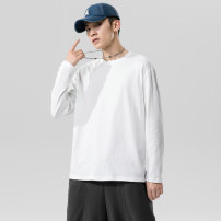 T-shirt Youth fashion routine M L XL 2XL 3XL 4XL 5XL Long sleeves Crew neck easy daily autumn Cotton 100% teenagers routine Summer 2020 Solid color cotton Pure e-commerce (online only)
