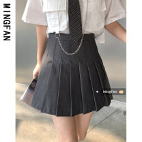 skirt Summer 2021 S M L White grey black Short skirt commute High waist Pleated skirt Solid color Type A 18-24 years old MF30158 More than 95% other Famous model (clothing) other Korean version Other 100% Pure e-commerce (online only)