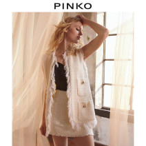 Vest Spring 2021 Z14 38 40 42 44 Medium length other Solid color 25-29 years old PINKO 51% (inclusive) - 70% (inclusive) cotton Same model in shopping mall (sold online and offline)