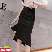 skirt Summer 2020 S M L XL 2XL black Mid length dress Versatile High waist skirt Solid color Type A 30-34 years old GD624C-933 More than 95% other Princess Daixiang polyester fiber Zipper stitching Polyester 100% Pure e-commerce (online only) 101g / m ^ 2 (including) - 120g / m ^ 2 (including)