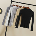 Wool knitwear Autumn 2021 M,L,XL,2XL White, light gray, dark gray, black, red, khaki, apricot, dark green, caramel Long sleeves singleton  Socket nylon 30% and below have cash less than that is registered in the accounts routine commute Self cultivation Half height crew neck routine Solid color