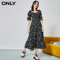 Dress Autumn 2020 E03 White Floral AOP BK S01 black black 155/76A/XS 160/80A/S 165/84A/M 170/88A/L 175/92A/XL Middle-skirt singleton  Short sleeve Sweet other High waist Decor Socket A-line skirt bishop sleeve 18-24 years old ONLY Frenulum More than 95% Chiffon other Viscose (viscose) 100% Ruili