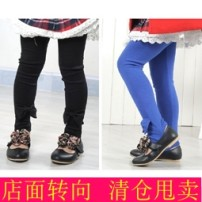 trousers female spring and autumn trousers lady No model Leggings Leather belt middle-waisted Pure cotton (100% content) Don't open the crotch Other 100% 2 years old, 3 years old, 4 years old, 5 years old, 6 years old
