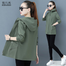short coat Autumn 2020 M L XL 2XL 3XL 4XL Long sleeves routine Thin money singleton  easy commute routine Hood zipper Solid color 25-29 years old 96% and above Pocket zipper other Other 100.00% Pure e-commerce (online only)