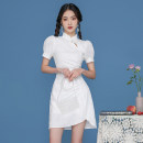 Dress Summer 2021 white S M L Short skirt Short sleeve commute 25-29 years old John Ratzenberger  A4538 More than 95% cotton Cotton 100% Pure e-commerce (online only)