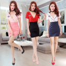 Dress Summer of 2018 Red white pink S ml XL XXL made to order Short skirt singleton  Short sleeve commute V-neck middle-waisted other One pace skirt routine Others 18-24 years old Dantuya Ol style YY5445 More than 95% other other Other 100% Pure e-commerce (online only)