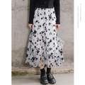 skirt Autumn 2020 Average size Black and white flower Mid length dress commute High waist A-line skirt Broken flowers Type A 18-24 years old 20DJ4799 More than 95% Dingjin (clothing) other Korean version Other 100% Pure e-commerce (online only)